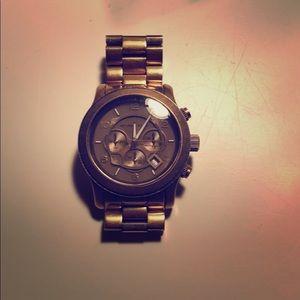 Michael Kors brass watch